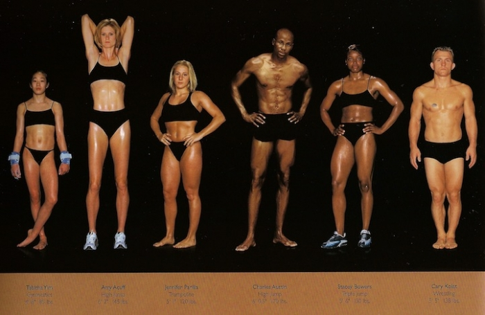 The different body types of Olympic athletes