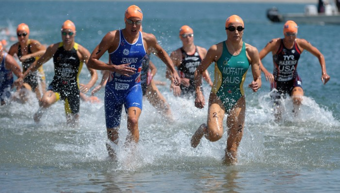 Cold water immersion following Ironman triathlon