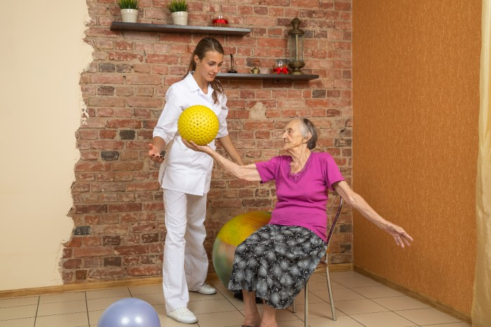 Seated exercise for non-mobile elderly
