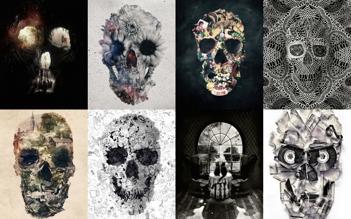 The Message: Illustrated skulls, created by Ali Gulec