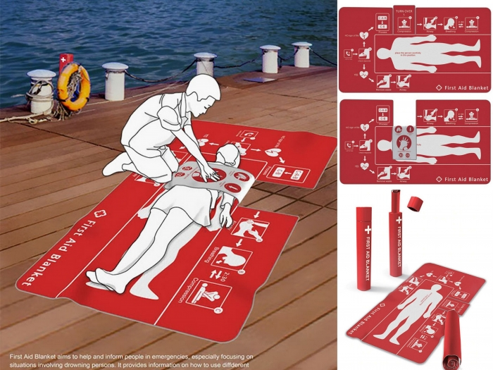 Easy to use First Aid Blanket designed to save lives