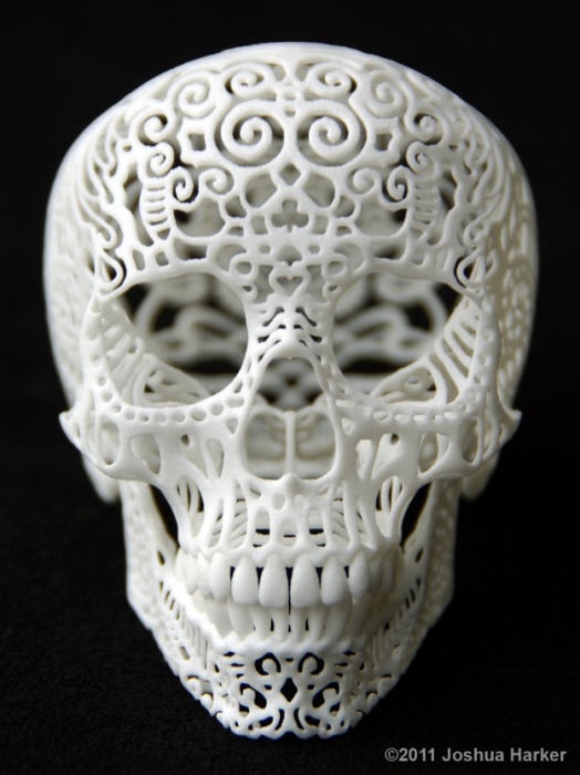 3-D printed anatomical art by Joshua Harker