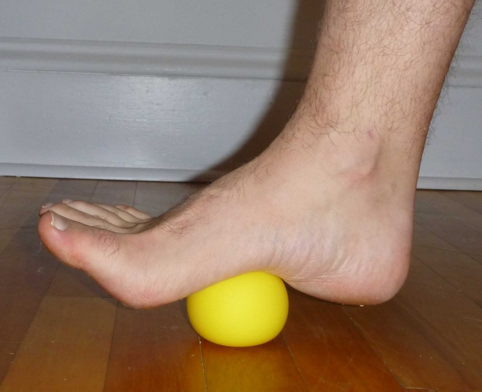 Plantar fascial release and lumbar/ hamstring flexibility