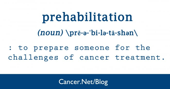 Prehabilitation before surgery