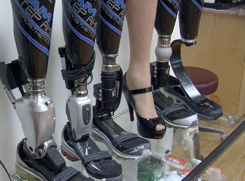 Development of prosthetic feet for high-heeled shoes