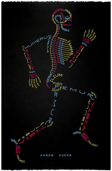 Skeletal typogram by Aaron Kuehn
