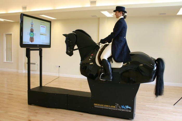 The effect of blindfolded horseriding simulation on balance