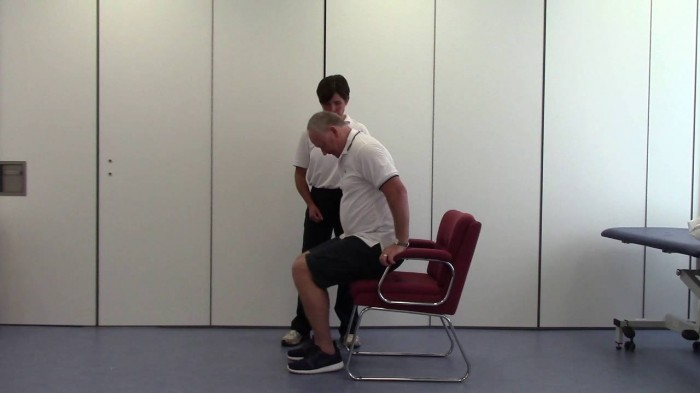 Repetitive sit-to-stand training after stroke