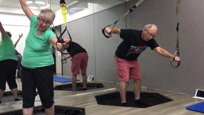 Mini-trampoline training programme for osteopenia